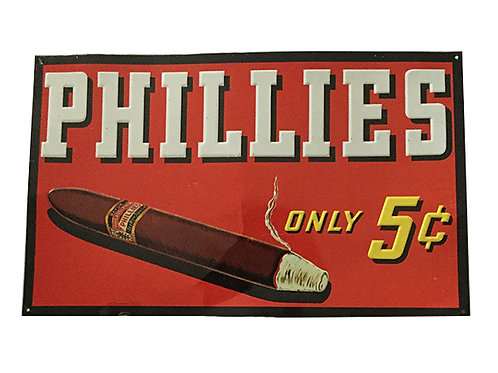 Vintage Phillies Cigar Sign