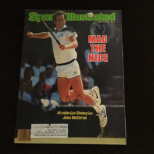 John McEnroe signed Sports Illustrated