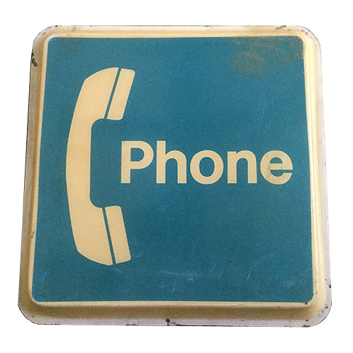 Vintage Phone Booth sign