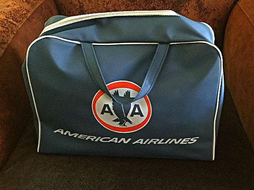 Vintage 60s American Airlines Travel Bag