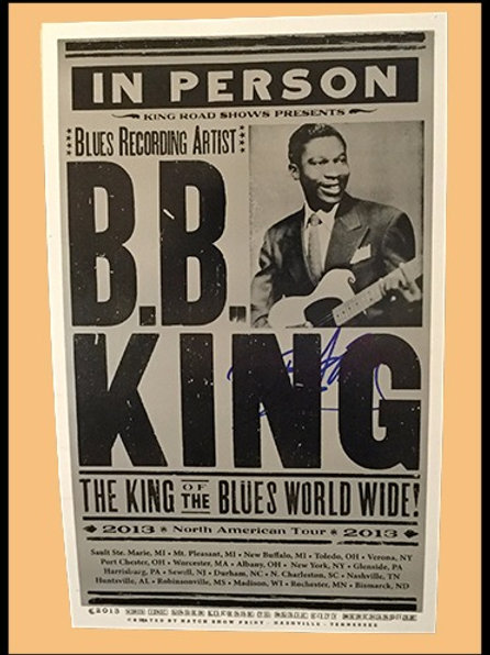 B.B King signed tour poster