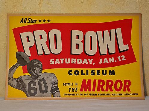 Vintage early 50s Pro Bowl Broadside