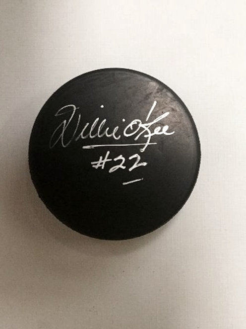 Willie O'Ree Signed Puck