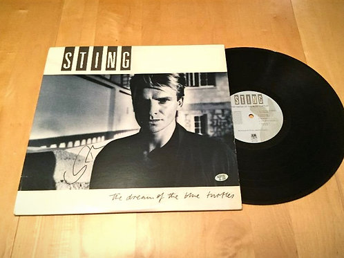 Sting Autographed LP Cover