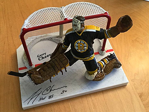 Gerry Cheevers Signed McFarlane Action Figure