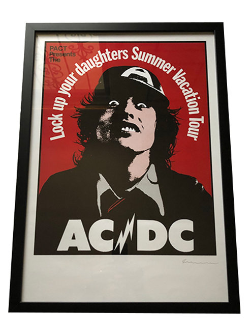 ACDC Framed And Signed By Artist Tour Poster