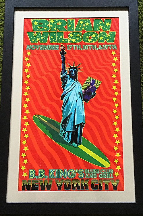 Brian Wilson framed concert poster