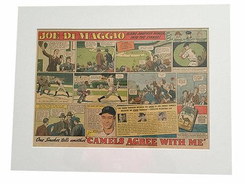1938 Matted Joe Dimaggio Camel Ad