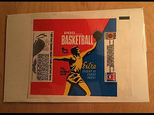 1971 Topps Basketball Wrapper