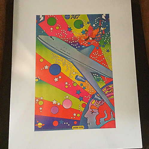 Peter Max matted Pan Am Poster