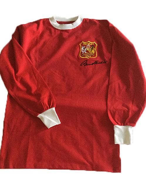 Sir Bobby Charlton signed Manchester shirt