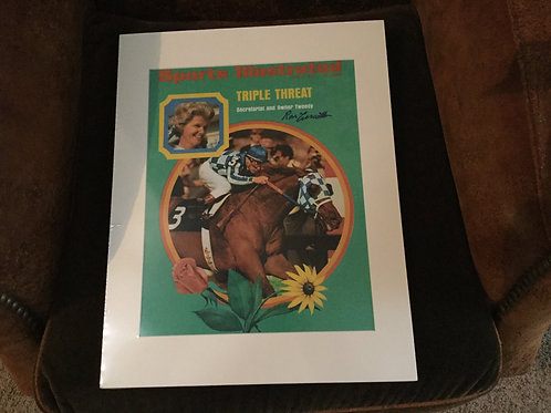 Secretariat SI cover print signed by Ron Turcote