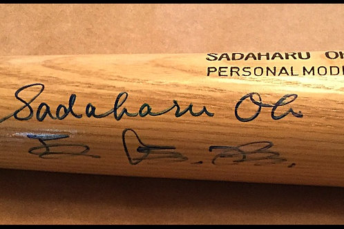 Sadaharu Oh signed baseball bat