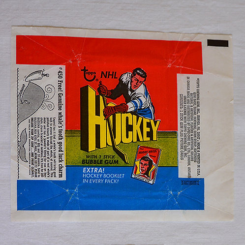 1971 Topps Hockey wrapper