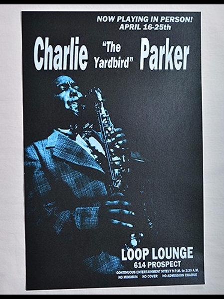Charlie Parker reprint poster