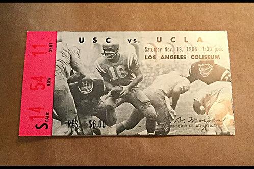 UCLA vs USC 1966 Ticket Stub