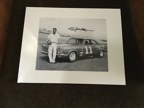 Ned Jarret signed 8x10 matted