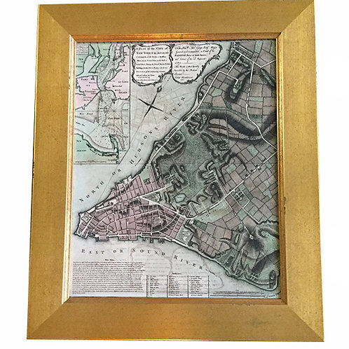 Framed map of Manhattan