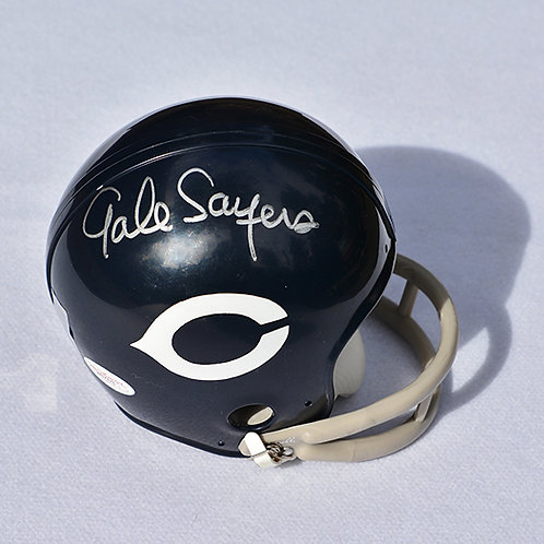 Gale Sayers Autographed Throwback Mini Helmet