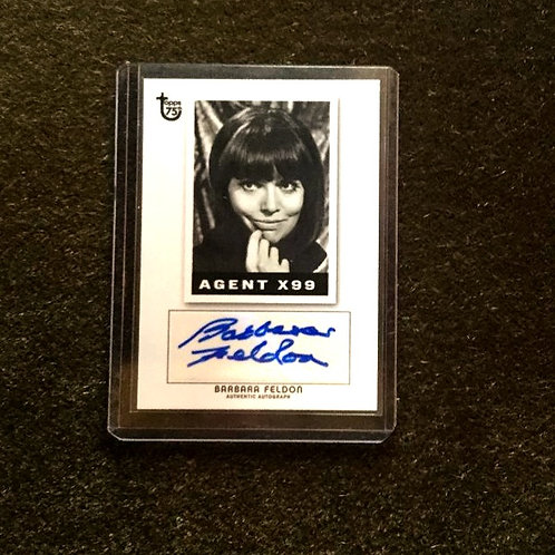 Barbara Feldon Signed Topps Card