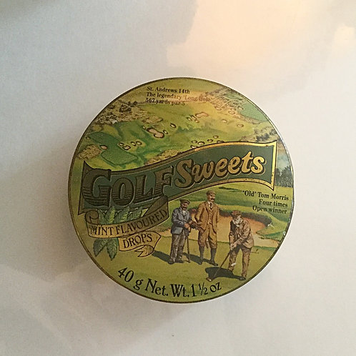 Old Golf Candy Tin