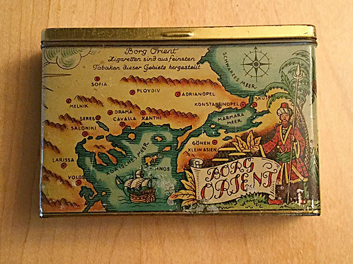 Borg Orient Greek-Turkish cigarette tin