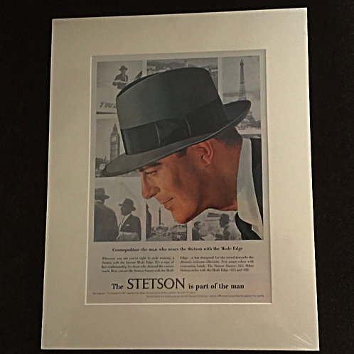 Vintage Stetson hat ad