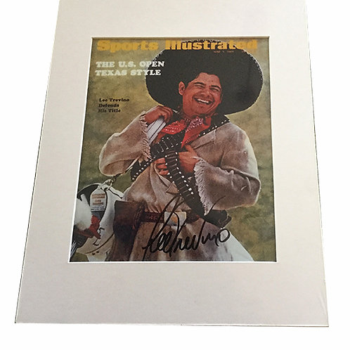 Lee Trevino signed Sports Illustrated print