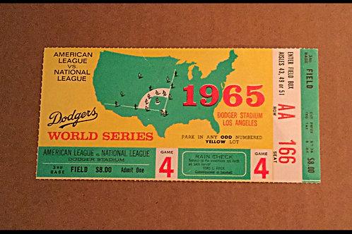 1965 World Series Ticket Stub