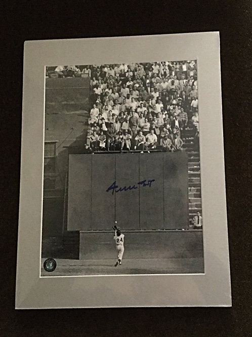 "Willie Mays ""The Catch""signed photo"