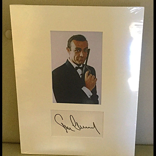 Sean Connery matted auto with 8x10