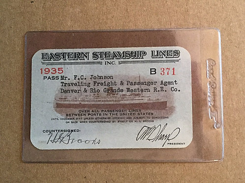 1935 Eastern Steamship Lines pass