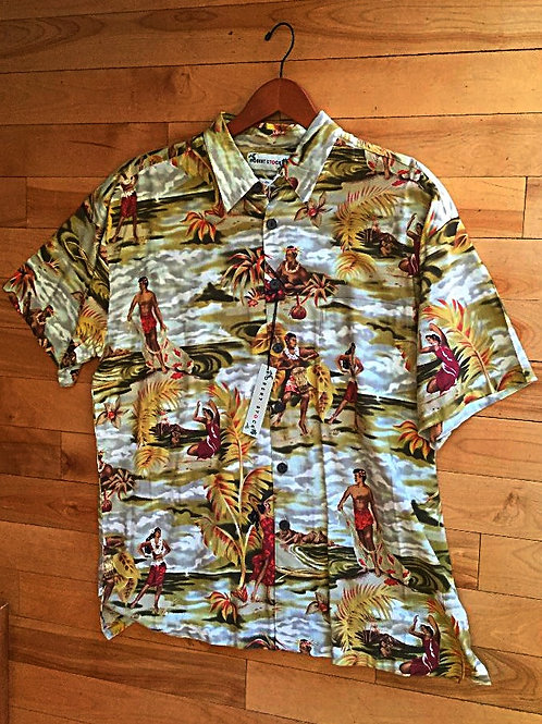 New! Robert Stock Hawaiian Shirt