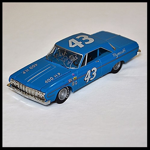 Richard Petty signed 64 Plymouth Belvedere