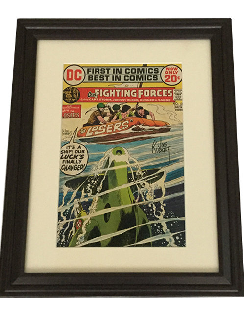 "Signed and Framed Joe Kubert ""Our Fighting Forces"" Comic"