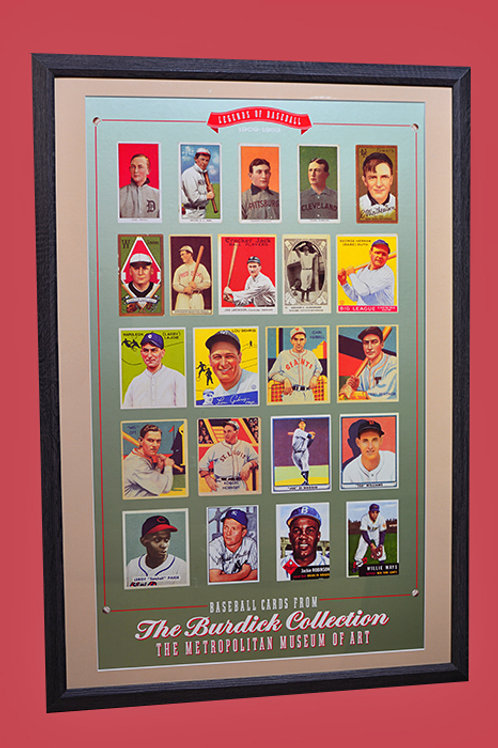 Most valuable cards poster matted and framed
