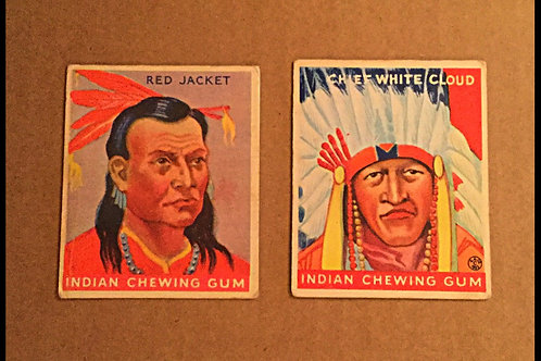 Goudey Indian Chewing Gum Cards