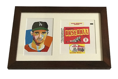 Sandy Koufax Framed Pop Art with Wrapper