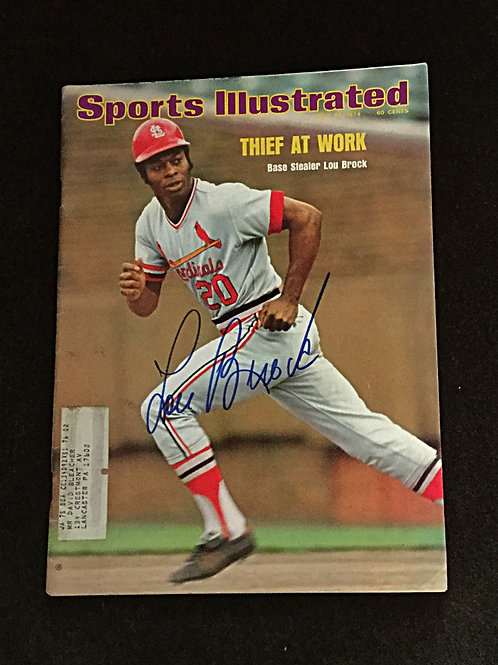 Lou Brock signed 1974 Sports Illustrated