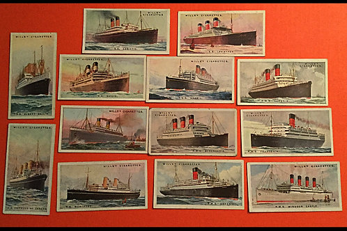 1924 Wills Merchant ships cards
