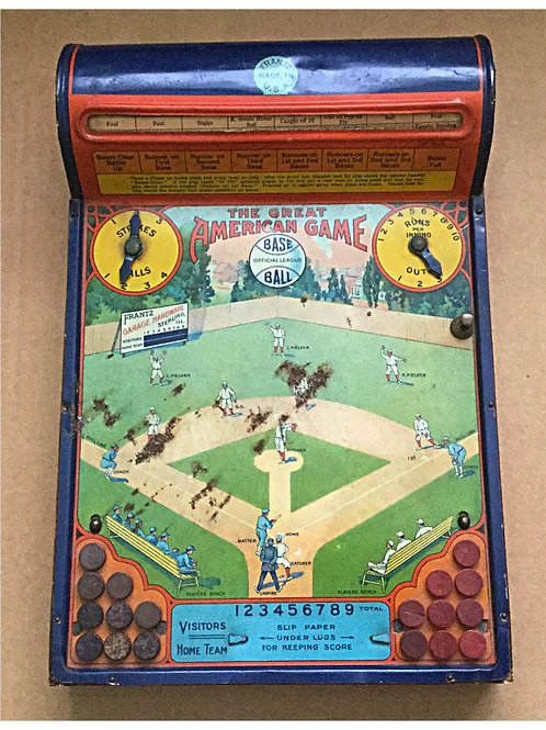 1920's Frantz Metal Baseball Game