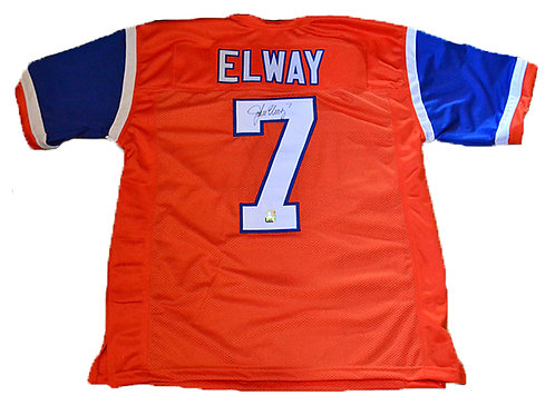 Autographed Elway Throwback Jersey