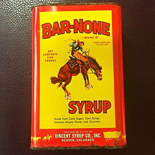 Bar None Syrup Tin
