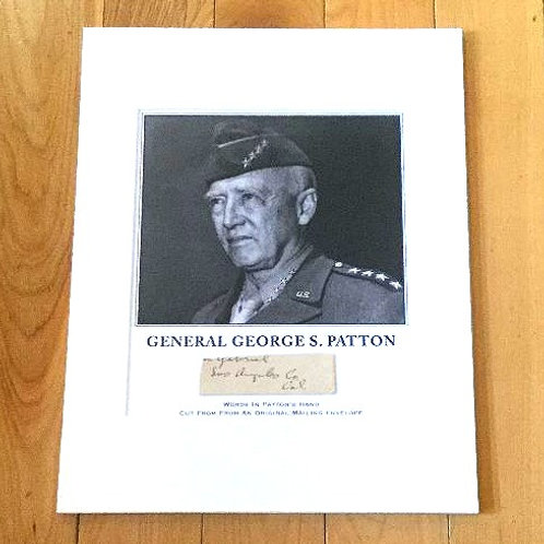 General George Patton Signed Mailing Envelope