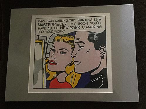 Roy Lichtenstein matted art-print