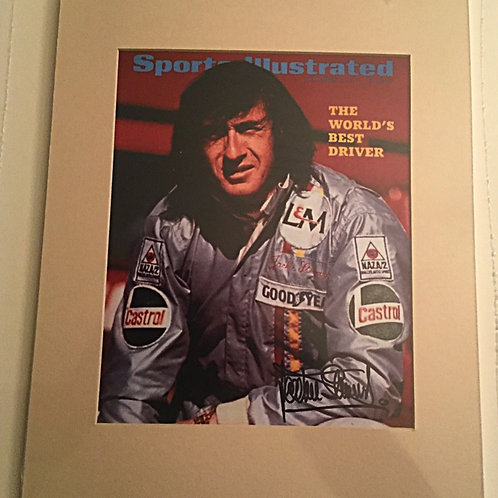 Jackie Stewart signed 8x10 matted