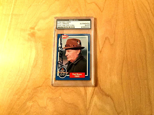 Paul Brown Autographed Card