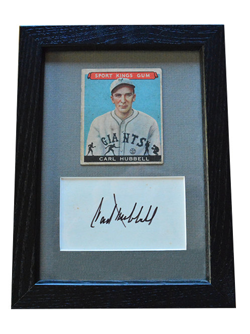 Framed Hubbell Sport Kings with Autograph