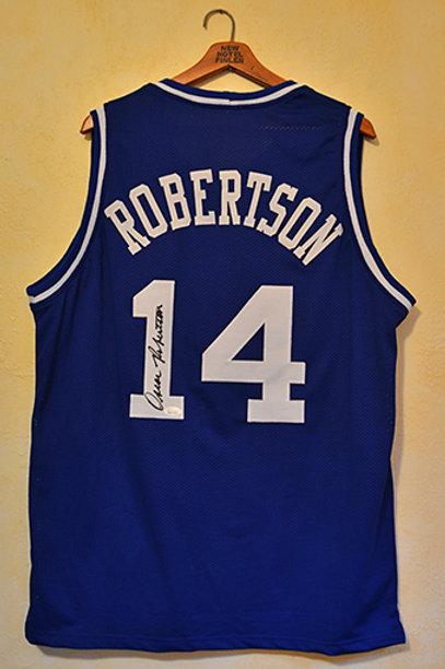 Oscar Robertson signed Cincinnati Royals jersey