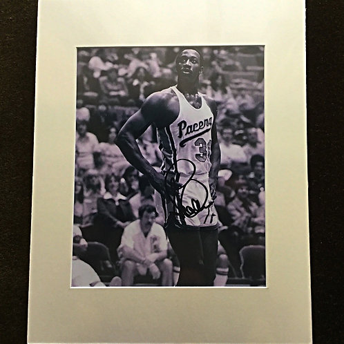 George McGinnis signed and matted 8x10